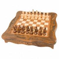 Шахматы резные в ларце 40 Haleyan