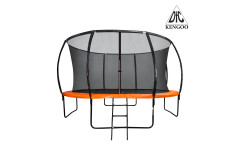 Батут DFC KENGOO 12 футов (366 см) внутр.сетка, лестница, оранж/черн (2 кор)