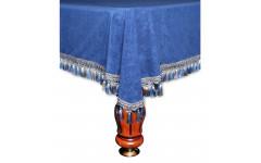 Покрывало Венеция 12фт велюр синее