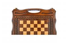Шахматы + нарды резные Бриз-2 40, Haleyan