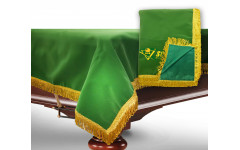 Чехол для б/стола 11-3 (зеленый с желтой бахромой, без логотипа)
