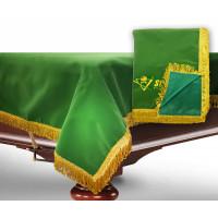 Чехол для б/стола 10-3 (зеленый с зеленой бахромой, без логотипа)