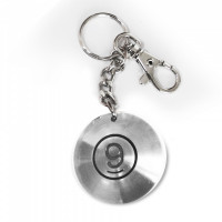 Брелок кольцо, напыление хром 9995