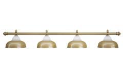 Лампа на четыре плафона «Crown» (матово-бронзовая штанга, матово-бронзовый плафон D38см)