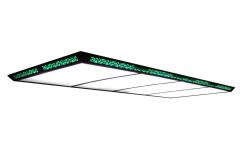 Лампа плоская  люминесцентная  «Flat II» ( 300x120x7,5 см, 15 неон. тр., зеленая)