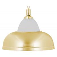 Лампа на один плафон «Crown» (золотистая чашка, золотистый плафон D38см)