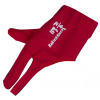 Перчатка бильярдная «Ball Teck MFO» (черно-красная, вставка замша), защита от скольжения