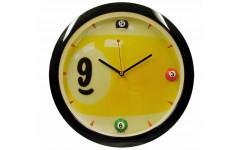 Часы настенные «Девятка» D29 см (черные)