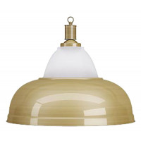 Лампа на один плафон «Crown» (матово-бронзовая чашка, матово-бронзовый плафон D38см)
